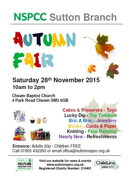 nspcc autumn fair 2015 poster