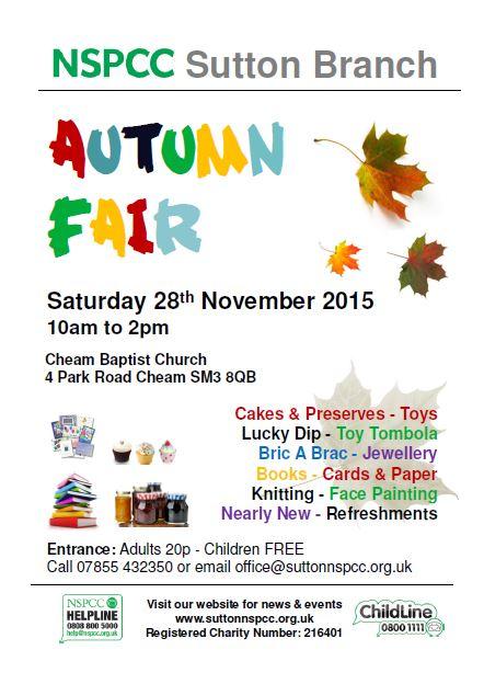nspcc autumn fair 2015 poster